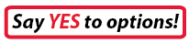 Say YES to options! button & link